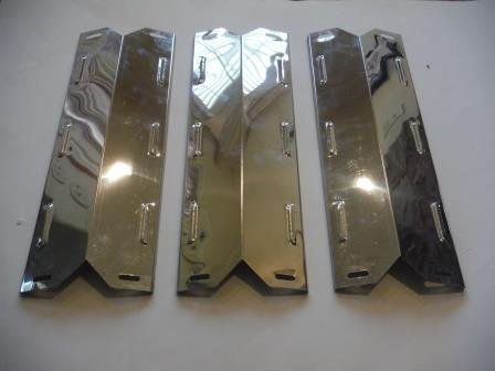 Set of Three Stainless Steel Heat Plates for Select Kenmore Gas Grill Models
