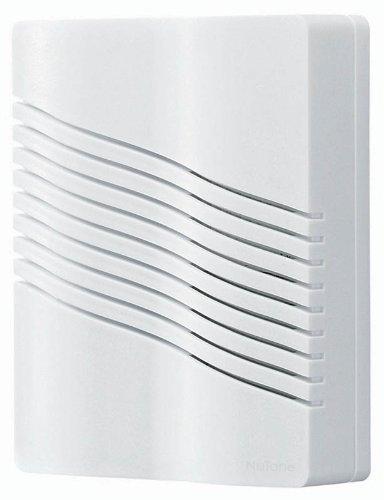 Nutone La206Wh Contemporary Wave Design Portable Wireless Door Chime, White Finish