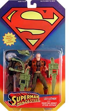 "SUPERMAN "" LEX LUTHOR "" w/ SQUIRTING HORNET ATTACK JETPACK MOC - 1"