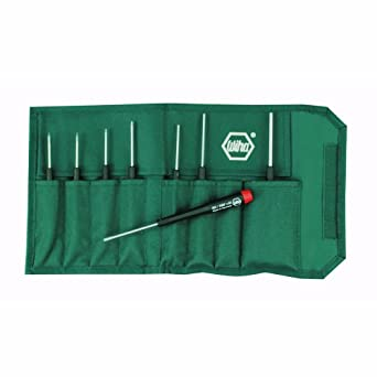 Wiha 26399 Hex Inch Screwdriver Set With Precision Handle, 8 Piece