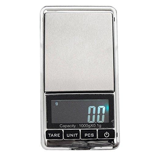 Weiheng WH-DS16 1000g/0.1g Mini Balance de bijoux - Balance de haute précision Numérique Portable - Idéale pour peser de l'or, l'argent,bijoux, etc