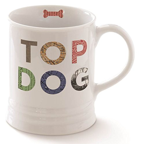 "Funny Coffee Mugs Gifts For Dog Lovers Extra Large Mug 16 Oz. ""Top Dog"""