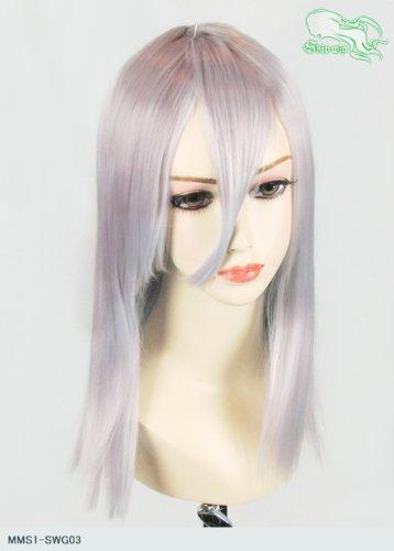 スキップウィッグ 魅せる シャープ 小顔に特化したコスプレアレンジウィッグ フェアリーミディ スノーグレイ