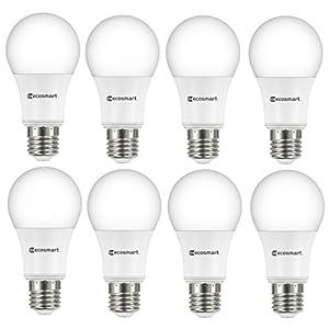 EcoSmart 60-Watt Equivalent Soft White A19 Non Dimmable LED Light Bulb (8-Pack)
