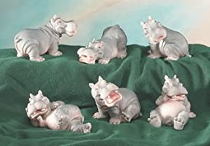 Little Hippo Set of 6 Figurines