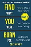 Find What You Were Born For: Design Goals That Bring Purpose To Your Life - How To Shape Your Future, Craft Goals To Your Calling And Create Lasting Change (Book 2)
