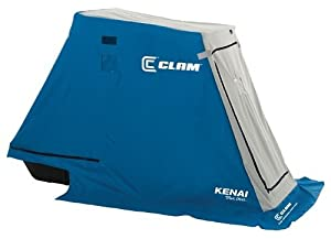 Clam 8391 Kenai Portable 1 Person Ice Fishing Trap Sled Shelter w  Bench Seat