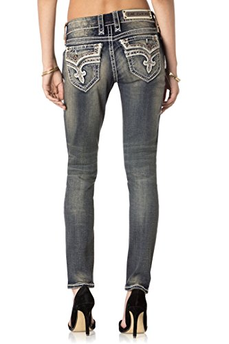 Rock Revival Jeans Women`s Mare S202 Distressed Stone Washed Skinny (32)