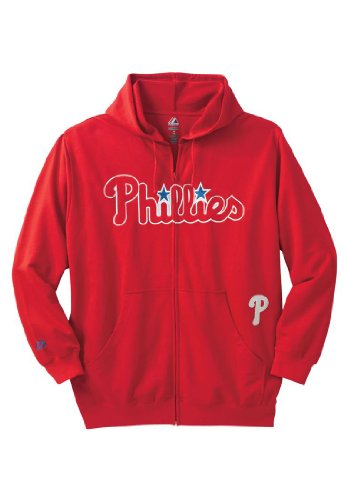 Mlb Full Zip Hoodie, Phillies 3Xbig at Amazon.com
