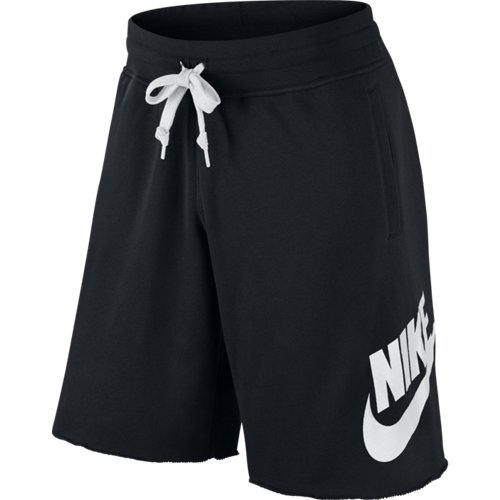 Nike AW77 FT - Pantaloni da uomo, corti, in grigio, unisex, Beinkleid AW77 Ft Aluminium Shorts Men, Nero, L