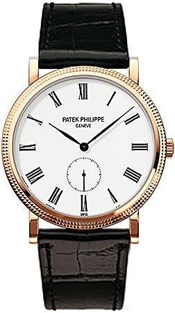patek-philippe-calatrava-white-dial-18kt-rose-gold-mens-watch-5119r