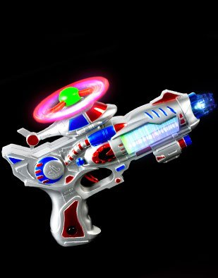 Futuristic Sci-Fi Helicopter Laser Light Gun