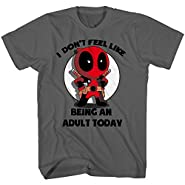 Deadpool I Don't Feel Like Being an Adult Today Mens Charcoal T-shirt
