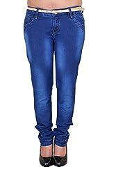 Zrestha Dark Blue Color Slim Fit Denim Jeans For Women