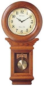 river city clocks chiming american regulator wall clock with swinging