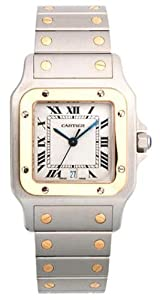 Cartier Men's W20011C4 Santos Galbee Stainless Steel and 18K Gold Watch