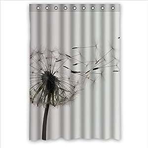 Interdesign dandelion shower curtain bathroom for Bathroom decor amazon