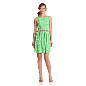 Plenty by Tracy Reese Womens Striped Organza Embellished Shift Dress