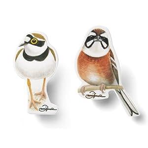 野鳥図鑑画家・谷口 高司さんが教えてくれる 身近で出会える素敵な鳥たちを探しにいこう! 日本に暮らす野鳥のクリップセット(ホオジロ・コチドリ)