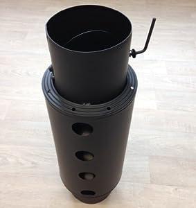 Warmlufttauscher 150 mm/ 60 cm Rauchgaskühler senotherm schwarz mit Drosselklappe  BaumarktRezension