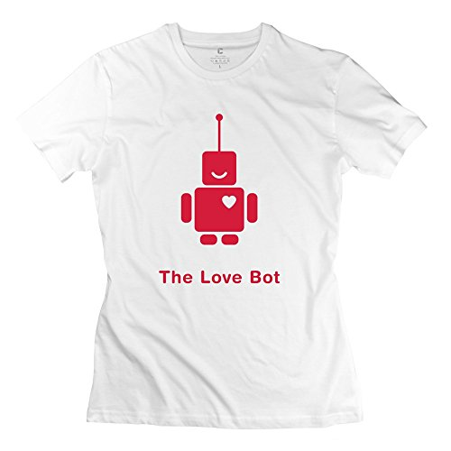 100% Cotton Geek Love Bot T-Shirts For Woman'S - Round Neck front-1001643