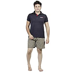 PSK Regular Cotton Check Men's Casual Boxer (Pack of 3) (Medium, Color-A)