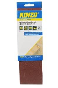 Kinzo 71751 Bande abrasive en bois 3 pièces grain 80