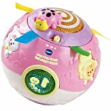 Distinctive VTech Crawl and Learn Bright Lights Ball - Pink - Cleva Edition ChildSAFE Door Stopz Bundle