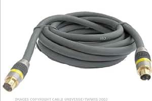 HQ HQS-2524/1.5 Câble de connexion S-VHS Noir