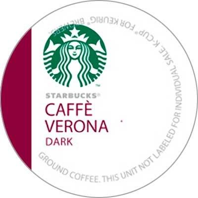 Starbucks Caffe Verona Coffee K-Cups front-596102