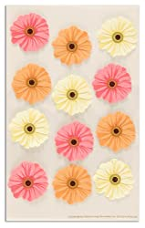 Martha Stewart Crafts Stickers Zinnia Pink/Orange/Cream By The Package