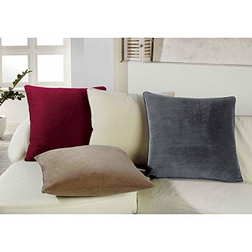 preiswert xxl samt kuschel kissen velvet mit rv und herausnehmbarer f llung 60x60 cm deko. Black Bedroom Furniture Sets. Home Design Ideas