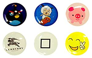 Home Button Stickers 6-in-1 Pack For iPhone, iPod & iPad ZT13702