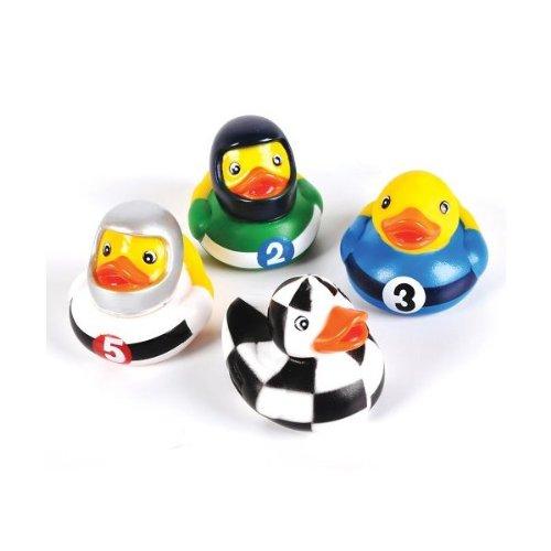 """Rhode Island Novelty 2"""" Racing Rubber Duck (12 Piece)"""