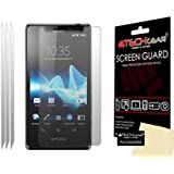TECHGEAR® **PACK OF 3** - SONY XPERIA T / LT30p / THE BOND PHONE CLEAR Screen Protector with cleaning cloth