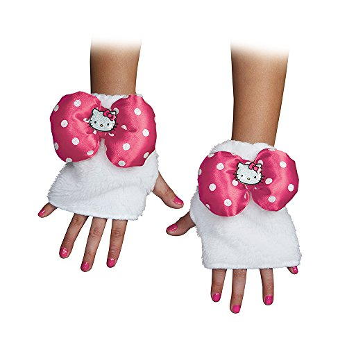 Disguise 88690CHPNK Hello Kitty Pink Child Glovettes Costume Child