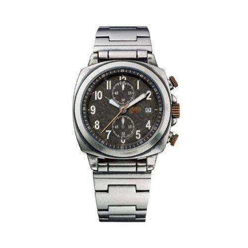 Hugo Boss Men's Stainless Steel Chronograph Watch; Black Dial with Date Display; 1512132