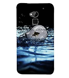 Fuson Premium Fish In Bulb Printed Hard Plastic Back Case Cover for HTC One Max