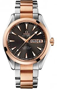 Omega Aqua Terra Annual Calendar Grey Dial Stainless Steel 18kt Rose Gold Mens Watch 231.20.43.22.06.001