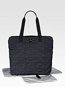 Kate Spade York Signature Spade Quilted-Bon Baby PXRU3826 Diaper Bag,Black,One Size from Kate Spade New York