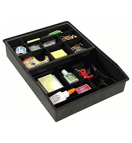 Everything-Drawer-Organizer-2-Tier-Sliding-Tray-Black