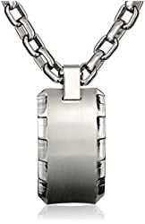 Edward Mirell Gray Titanium Templar Men's Necklace, 19''