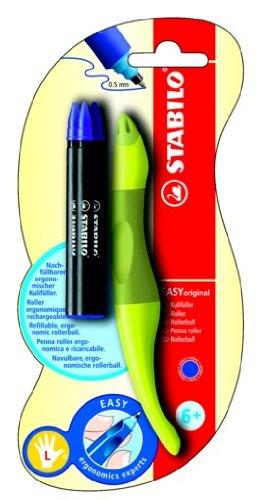 Stabilo EASYoriginal - Bolígrafo de punta rodante para diestros, color lima
