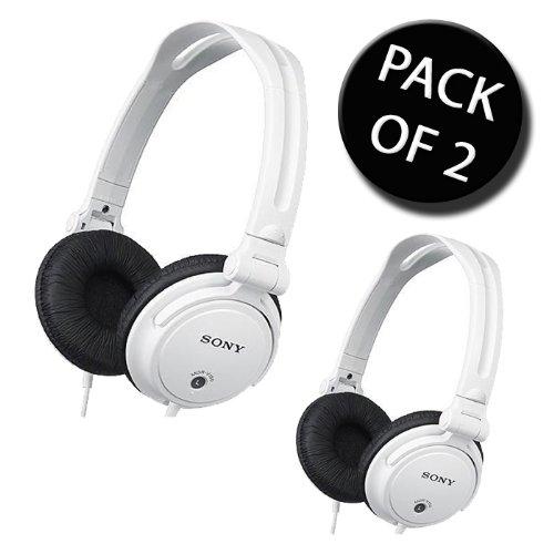 2 x Sony MDR-V150W Studio Monitor Kopfhörer - Weiß