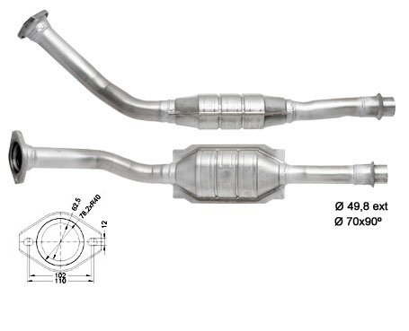 Katalysator CITROEN - BERLINGO - 2.0TD HDI 1997 cc 66 Kw / 90 PS DW10TD (RHY) - 99> DIESEL
