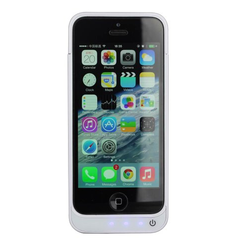 Kinps® For Iphone 5 /5C/5S 4200Mah Detachable External Rechargeable Spare Backup Extended Battery Charger Pack Case Cover