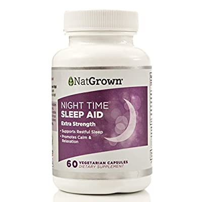 Natural Sleep Aid - Best Herbal, Non-Habit Forming Sleeping Pill (Made with Valerian, Chamomile, Passion flower, Melatonin & More!) - Vegan Dietary Supplement