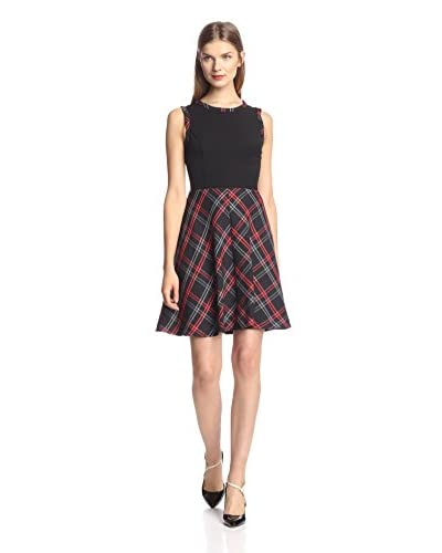 A.B.S. by Allen Schwartz Women's Plaid Fit-and-Flare Dress