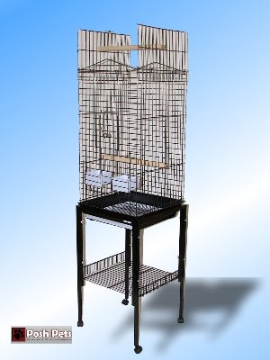 Cheap Guyana The Open Top Cocktail Or Small Parrot Cage In Black With Stand On Casters. (B0072UOOH6)