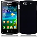 Solid Black Rubberised Hard Back Case Cover For Samsung Wave 3 S8600 PART OF THE QUBITS ACCESSORIES RANGEby Qubits